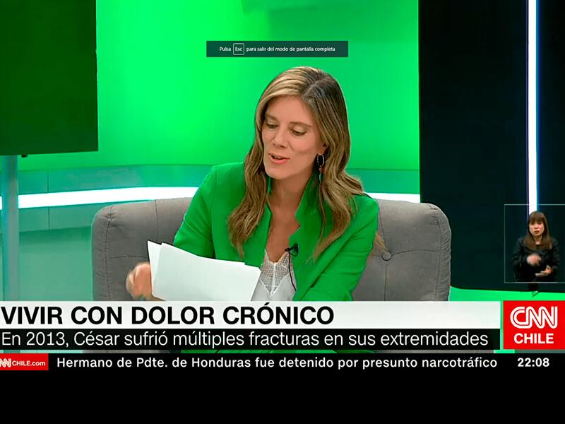 En el programa de CNN Chile, «Conciencia Inclusiva» hablaron sobre el dolor crónico
